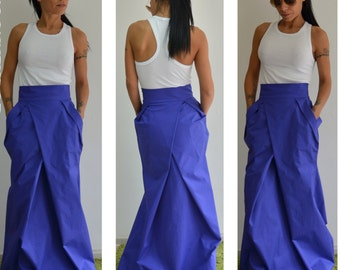 Long skirt / Fashion skirt / Maxi skirt /Woman high waist skirt /Circle skirt / Woman cotton skirt /Bridal skirt