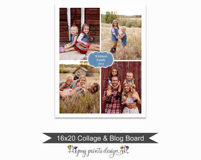Blog Board & Collage Template 16x20 - Social Media Collage Template - Digital Storyboard - Instant Download - BCB15