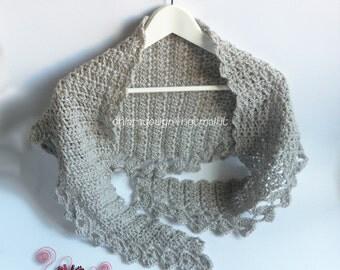 Baktus scarf crochet handmade to order-handmade crochet Baktus scarf made to order