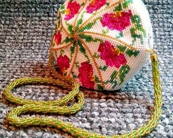 "Purse-bag ""Convolvulus"" - handmade - Made to order"