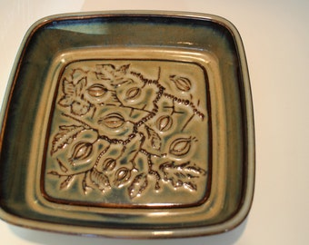 Home decor dinnerware Square Bowl, by Bing and Grondahl, Denmark - scandinavian ceramic tableware modern art deco