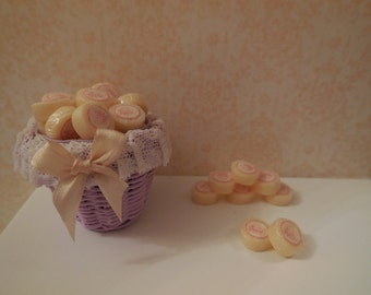 1:12 DOLLHOUSE  Yellow soap pads, wrapped with label
