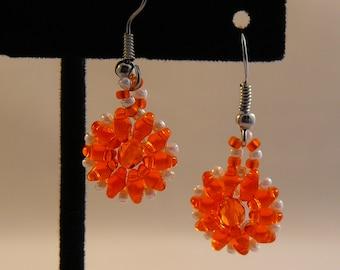 UT Vol Orange Blossom Earrings