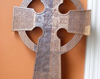 Large Wooden Celtic Wall Cross