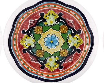 Talavera Blue Flower Ceramic Knob for Cabinet or Drawer