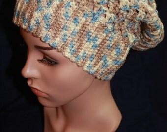 Cream Camo Slouchy Hat-CLEARANCE!