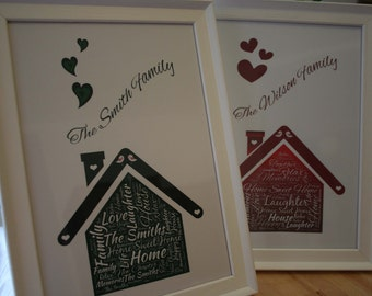 Personalised New Home Love Letter Art - New Home Moving House GIft