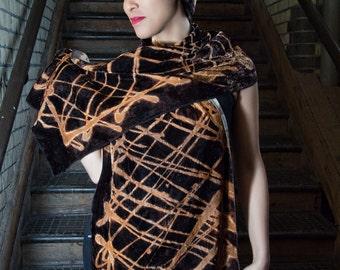 bleached velvet scarf
