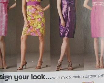 UNCUT  Misses Dress - Size 8, 10, 12, 14, 16, 18 - Simplicity New Look Pattern 6002