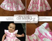 Baby Girl Dress - PDF Sewing Pattern and Photo Tutorial - Sizes 000 to 2 - Instant Download - Kids Toddler Child Easy Sew Pattern
