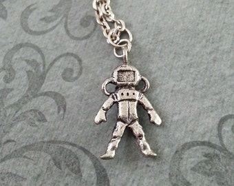Astronaut Necklace Astronaut Jewelry Astronaut Pendant Necklace Silver Astronaut Charm Necklace Astronaut Gift Space Jewelry Space Gift