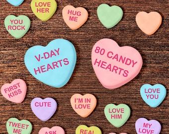 Conversation Heart Clipart: Valentine Clipart, Valentines Clip Art, Candy  Clipart, Candy Heart