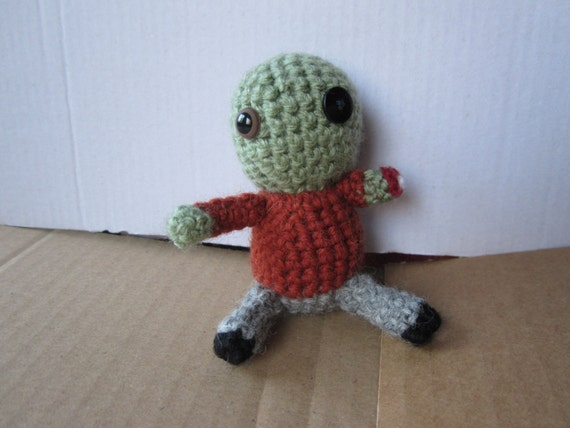 Crochet amigurumi zombie doll