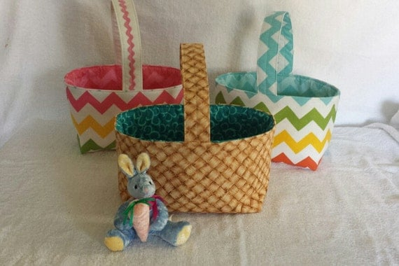Handmade fabric easter basket : Items similar to clearance handmade fabric easter