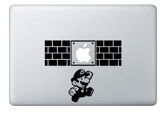 Super Mario Super Mario Bros Decal Macbook Decal Macbook - Vinyl decals for macbook