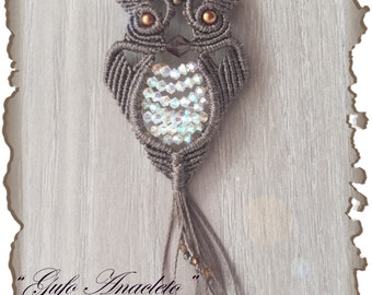"Photo tutorial in PDF to make ""Anacletus"" macrame OWL."