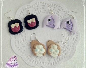 Steven Universe gems earrings