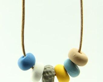 Beach Days - Beaded Clay Necklace