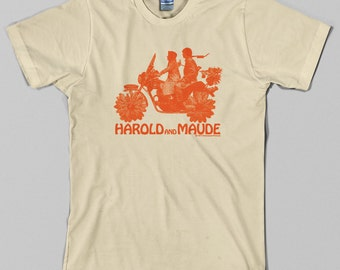 Harold and Maude T Shirt  -  Cat Stevens, cult movie, film, 70s - Graphic Tee, All Sizes & Colors