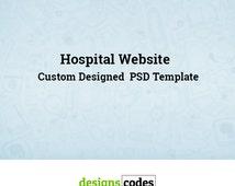 PSD Template, Website, Website Design, Web Developer, Web Design, Custom Web Design, Custom Website Design,  Healthcare Website Template