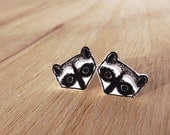 Racoon Earrings - Original Illustration on Shrink Plastic with Surgical Steel Posts