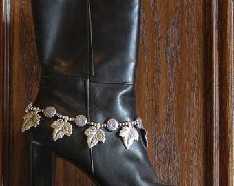 Silver Beaded Boot Bracelet - Silver Maples