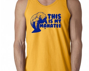 This is my Manatee aqua ocean aquarium zoo sea cow retro funny humor cool hip - Tank Top - sleeveless apparel clothing - IIT219