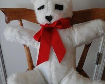 Handmake white fluffy bear