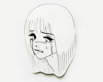 qt crying bb sticker