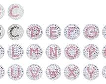 Bella Crystal Initial Charm, Letter Charm, Golf Hat Clip, Crystal Golf Ball Marker, Crystal Charm, Necklace Charm, Made with Swarovski