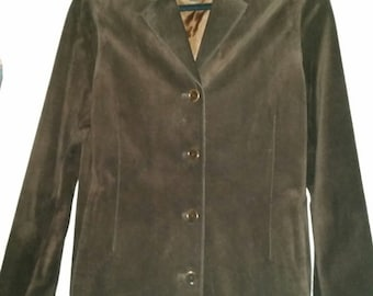 Beautiful COACH Women Brown Suede Coat Size Small LIKE NEW