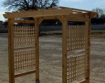 Brand New Very Large Classic Cedar Garden Arbor - Free Shipping