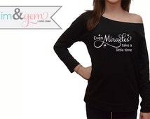 "Disney's Cinderella Shirt ""Even Miracles take a little time"" // Women's Disney Adult Sweats // Cinderella Quote Shirt // Disney Adult Shirts"