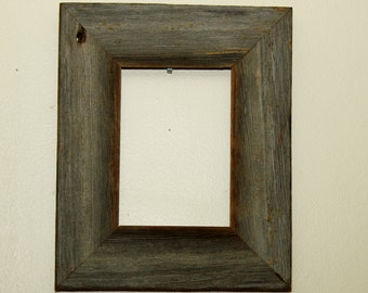 Rustic 5x7 reclaimed barnwood frame picture frame barn wood handmade unique