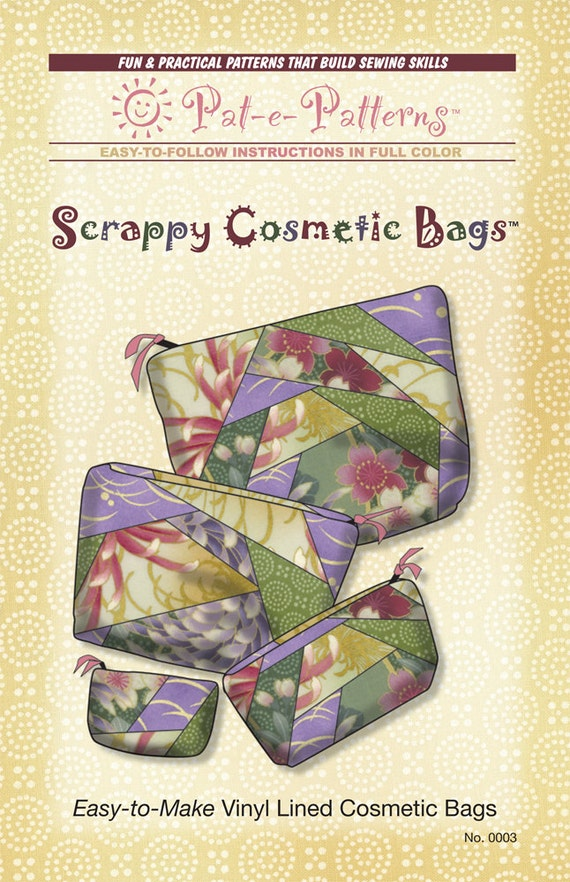 Easy To Make Vinyl Lined Cosmetic Bag Pattern Pdf Instant