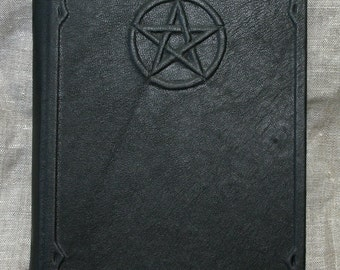 Large Handmade Leather Pentacle Book
