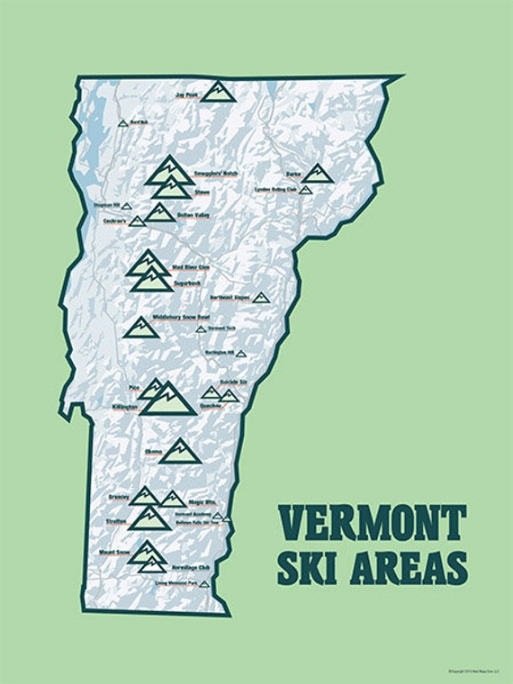 Pics Photos  Vermont Ski Resorts Map