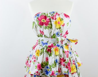 Floral apron, cotton apron, Apron Spring