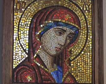 mosaic icon of Virgin Mary