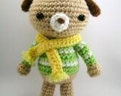 Dog amigurumi, puppy crochet, cute gift, wool.