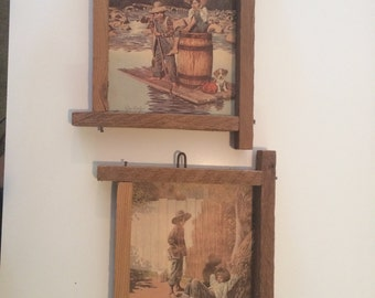 Pair of Tom Sawyer and Huck Finn wall hangings !
