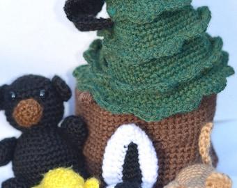 Mountain Lion Amigurumi : PATTERN: Crocheted Black Bear Californimal by Californimals