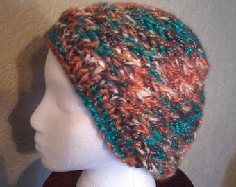 Earthy Spiral Knit Hat