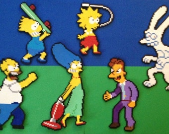 Simpsons Arcade Game Perler Bead Sprites