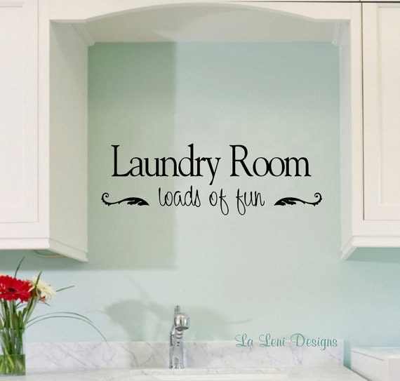 Https Www Etsy Com Listing 228565987 Laundry Room Decal Wall Decal Vinyl
