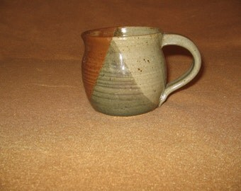 Tri-colored Stoneware Cup