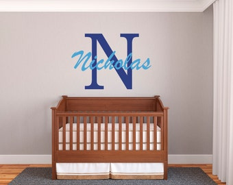 Personalized Name Decal with Initial