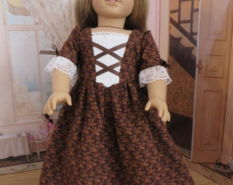 18 Inch Doll Clothes - Colonial Dress