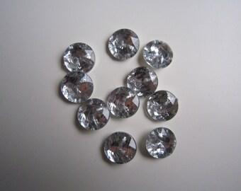 15 round rhinestone buttons