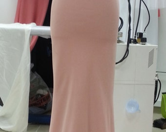 sleeveless pink evening dress